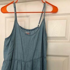 Mossimo chambray ruffle dress